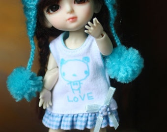 D015 - Lati yellow / Pukifee outfits (dress,hat and socks)