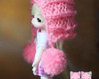A153 - Felix brownie / Pukipuki  / lati white knitted hat