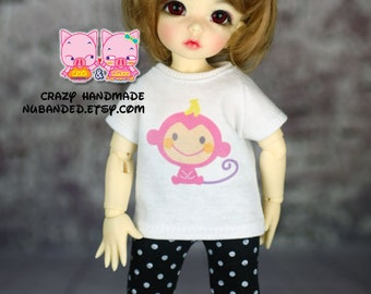 E072 - Yosd / 1/6 bjd  Outfits  (T-shirt and pants)