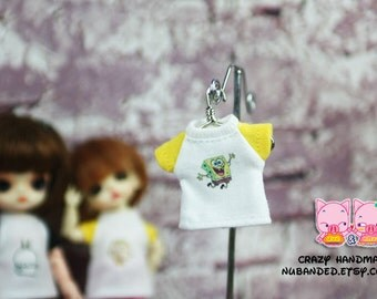A111 - T-shirt for lati white Sp / pukipuki / felix brownie doll / obitsu 11 cms.