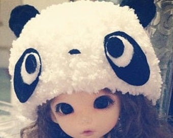 lati yellow / pukifee  Panda crochet hat