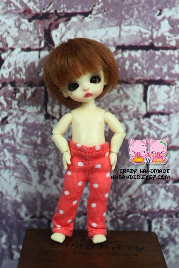 Pants for Pukipuki / felix brownie doll / lati white sp / obitsu 11 cms.