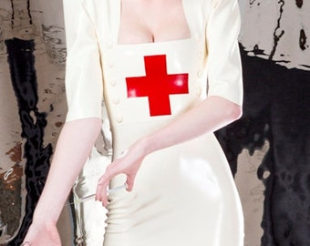 Latex Rubber Nurse dress