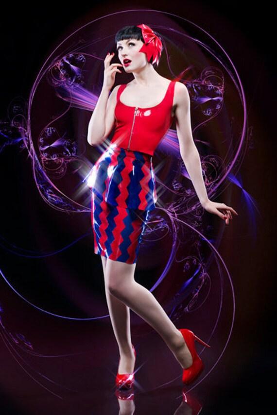 Latex ZIG ZAG skirt