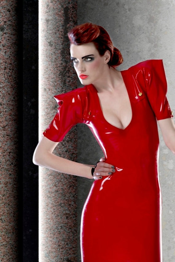 Latex Rubber Army dress