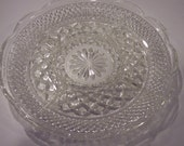 vintage sectioned  cut glass plate