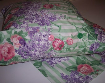 Hand made pillow covers - vintage buttons