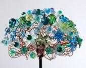 Tropical Rainforest Blue Green Table Lamp
