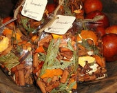 Orange POMANDER Potpourri with Clove, Cinnamon, Orange Peel, Cedar and Pure Essential oil of Orange and Spice