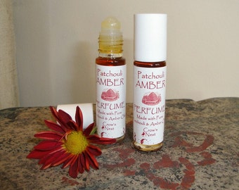 Pure and Natural PATHOULI - Amber roll on Perfume with pure essential oils