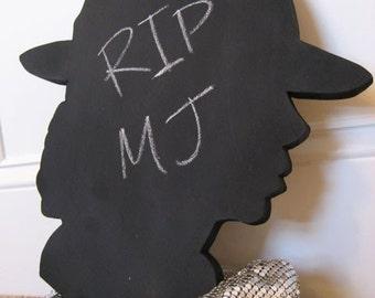 Michael Jackson Silhouette Chalkboard