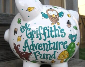 Woodland Adventure Fund Piggy Bank