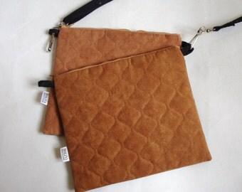 2 tier caramel shoulder bag