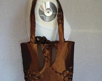 Bronze taffeta shoulder bag, SALE reg. 39