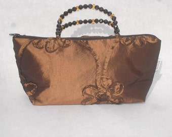 copper taffeta beaded bag, SALE reg. 39