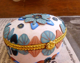 Blue and White Trinket Box