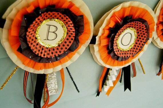 "Halloween Paper Banner - ""Boo"""