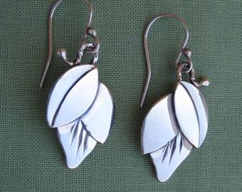 Bud Earrings Sterling Silver