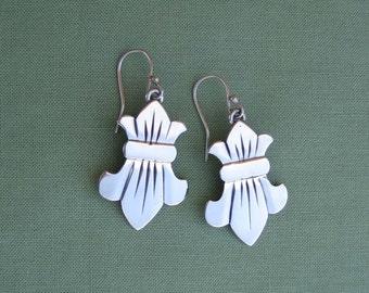 Fleur de lis Earrings - Sterling Silver