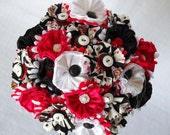 Las Vegas Poker Destination Button Fabric Wedding Bouquet Centerpiece