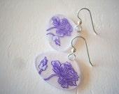 Purple Poppy Earrings
