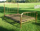 Late 1800s Victorian Brass Bed