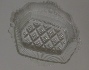 Small Clear Glass  Tray