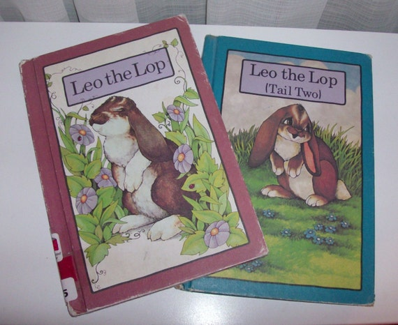 1970s Leo The Lop and Leo the Lop (Tail Two) Children's Books (Code b)
