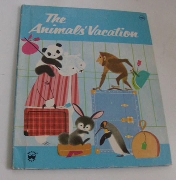 1983 The Animals' Vacation Children's Wonder Book