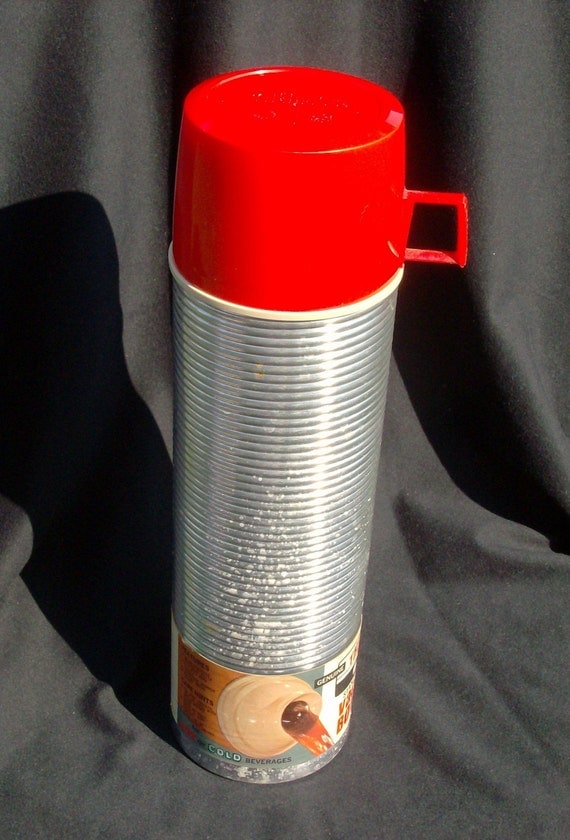 Vintage NEW Silver Tower Quart Thermos Vacuum Bottle