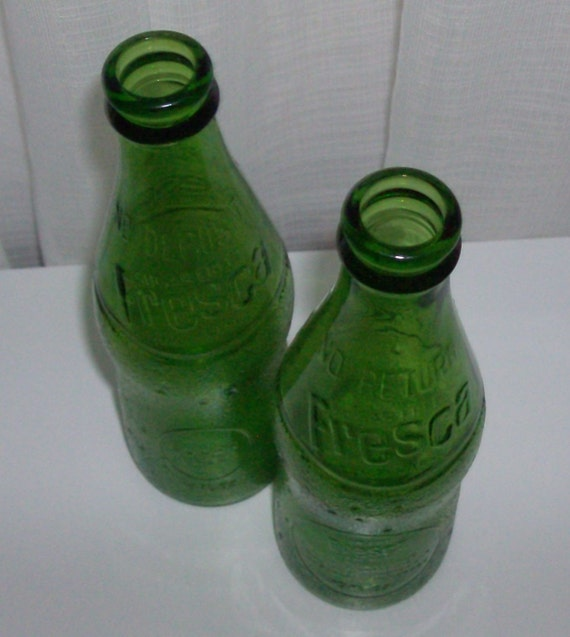 Pair Of Vintage Fresca Bottles