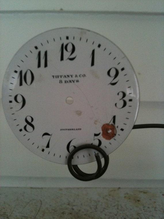 TIFFANY eight day miniature enamel clock face