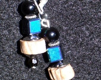 Dichroic Glass and Clay earrings