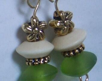 Meadow Fresh, dangle earrings
