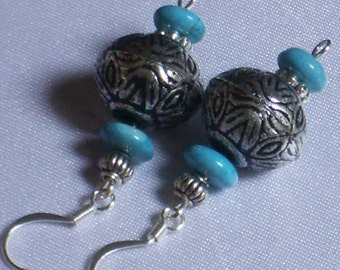 Corsica, earrings with Turquoise