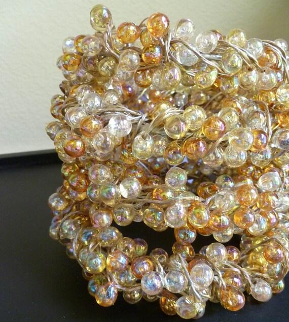 Lot Of 10 Beaded Candle Rings Wedding Christmas Amber