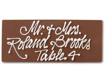 Chocolate Place Cards Wedding Event Favors