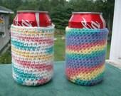 Soda or Beer cozy set of 2
