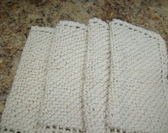 4 COTTON DISH CLOTHS   only 1.50 each