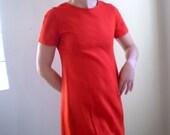 Vintage Red Pocketed Dress
