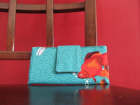 Must have wallet - Goldfish in Teal
