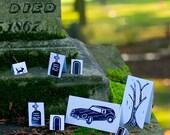 Halloween Paper Cemetery Diorama