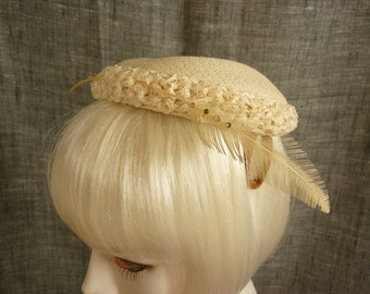 Vintage Wedding / Cocktail Hat from the 50s Evelyn Varon