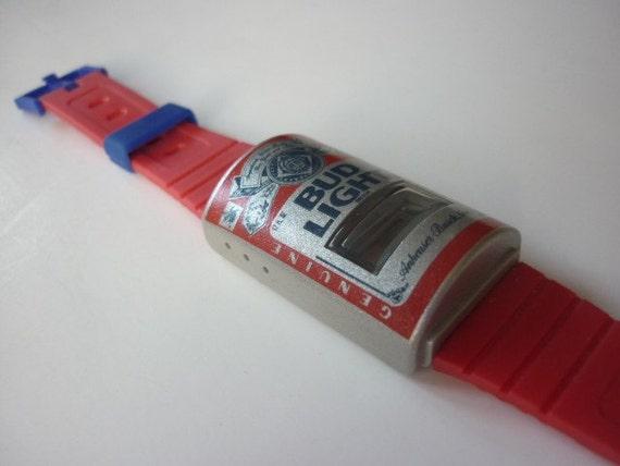 80s Budweiser LCD Watch Water Powered  NOS