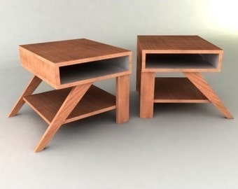 Retro Modern Eames-style End Tables Furniture Plan