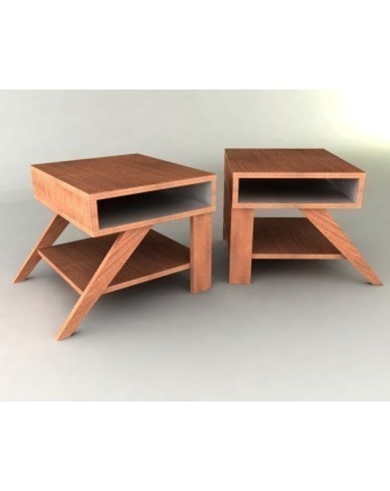 retro modern eames style end tables furniture plan