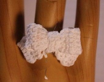 White Ribbon Ring