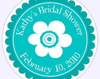 Custom Bridal Shower or Wedding Label, Stickers - 2.5 inch round - Personalized for YOU