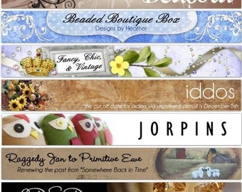 Custom Etsy Header, Avatar, AND Facebook banner - personalized and designed FOR YOU and your business