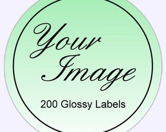 Custom Logo Labels, Custom Business Stickers - 200 2 inch GLOSSY round labels, stickers